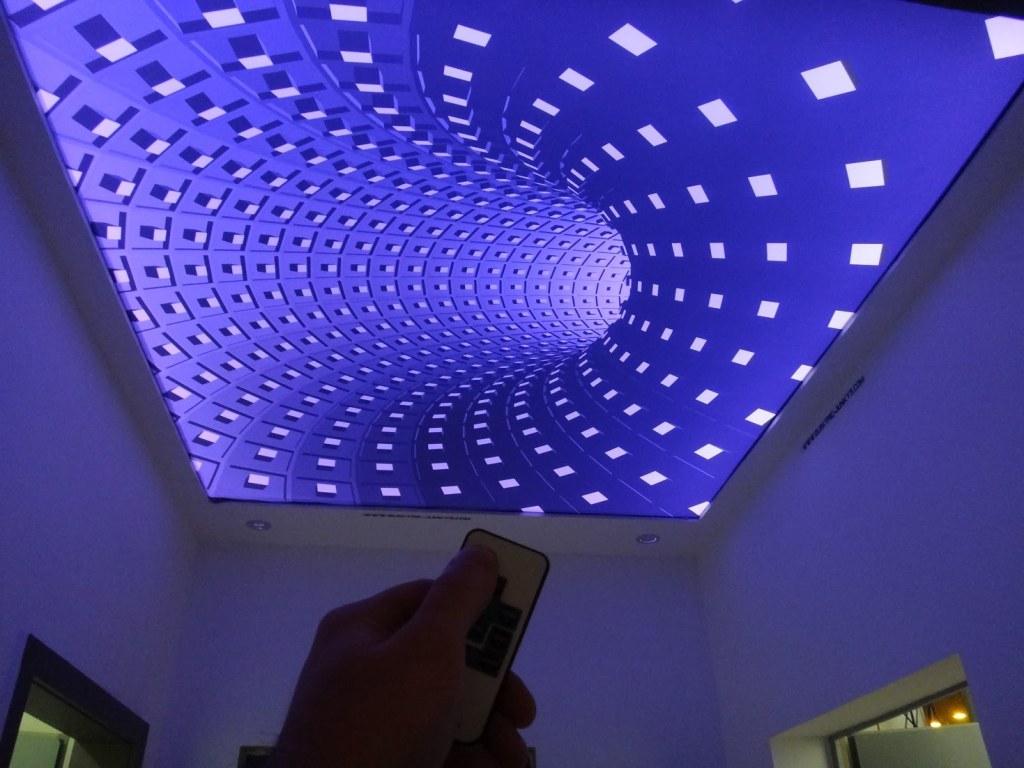 потолки натяжные 3д фото