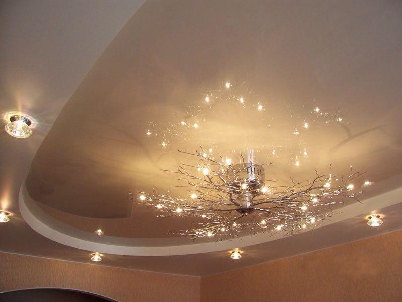 Монтаж двухуровневых натяжных потолков | 600x798