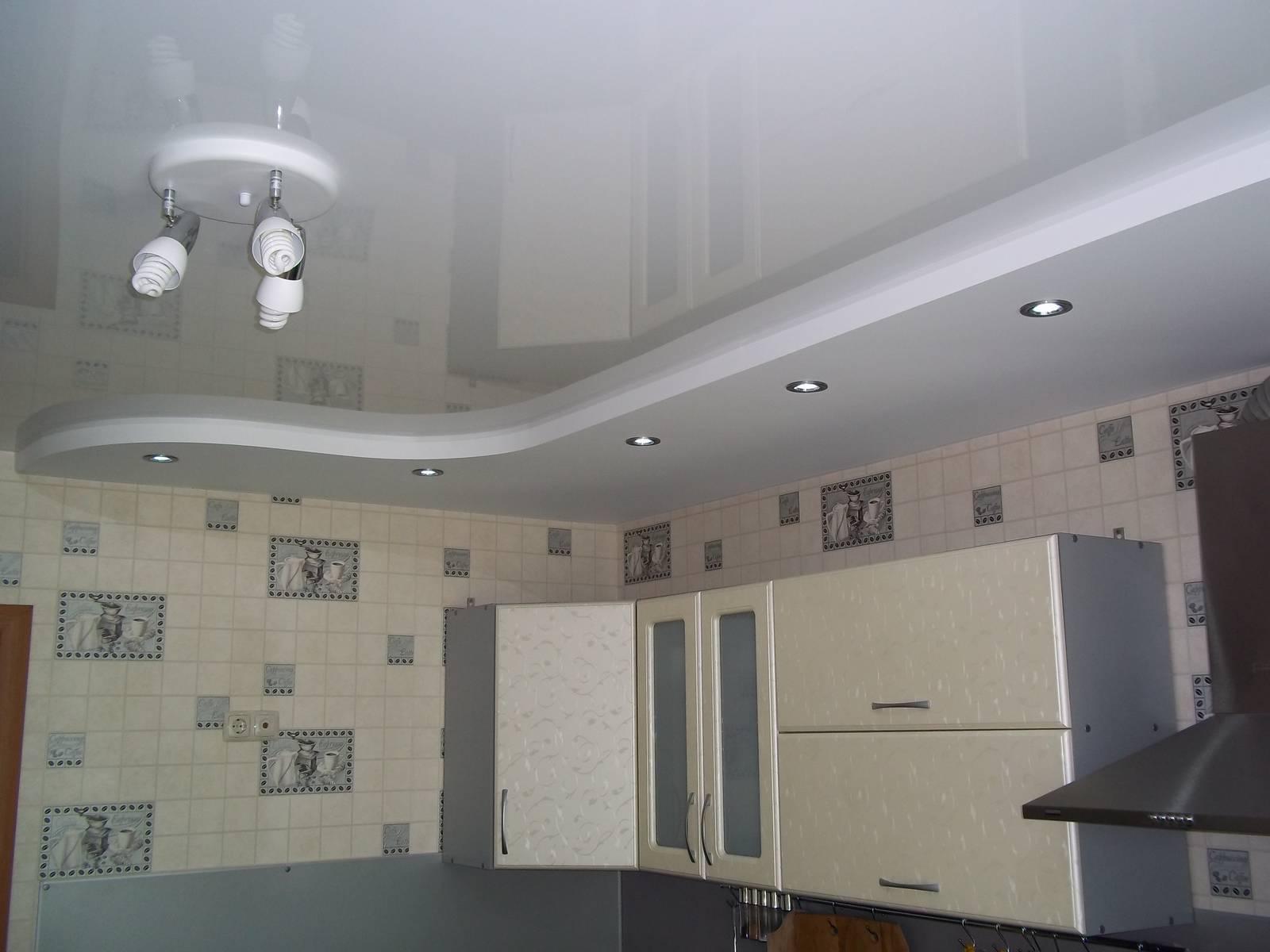 Дизайн потолков из гипсокартона фото для кухни