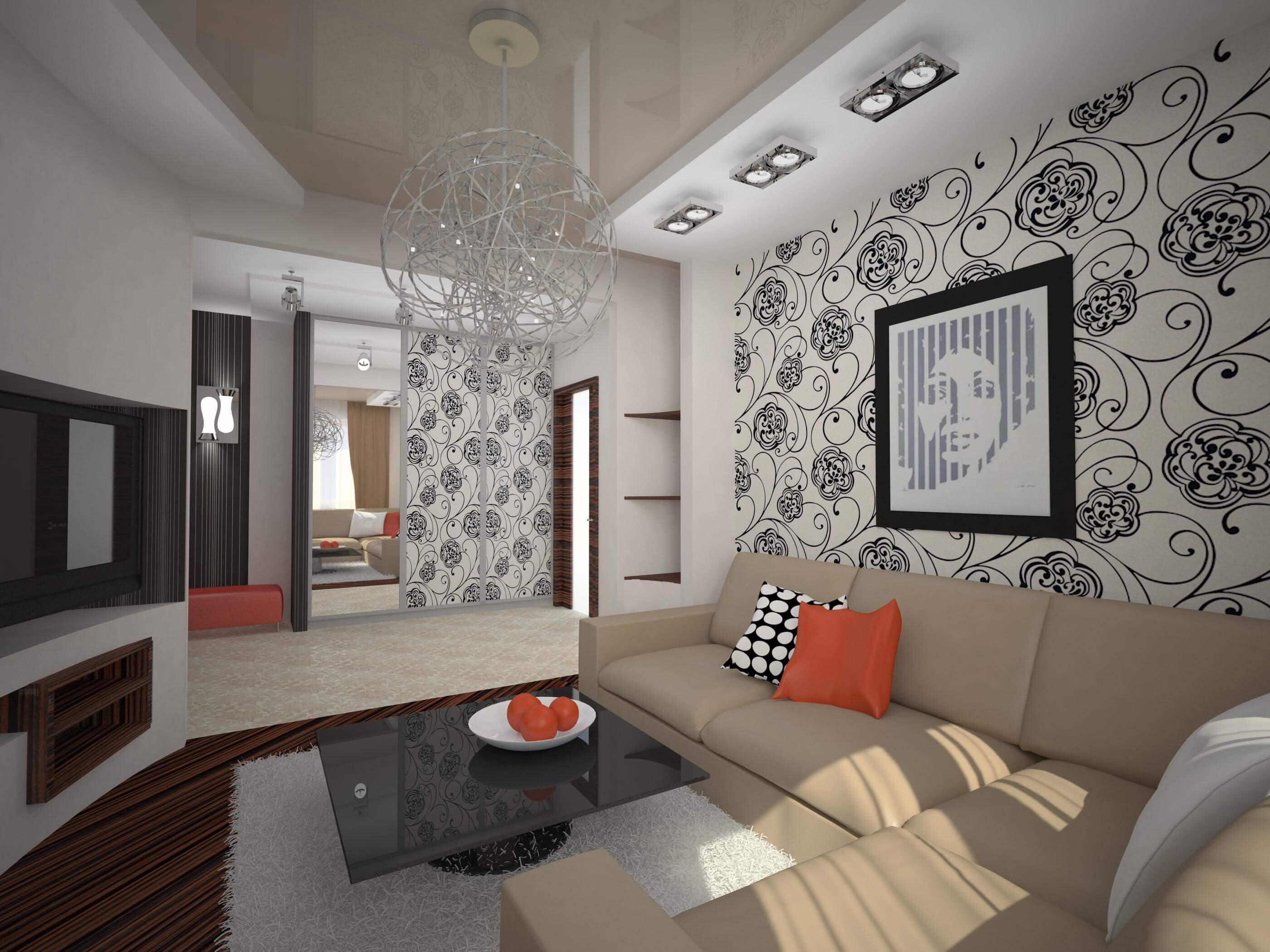 Фото ремонта зала и спальни в квартире
